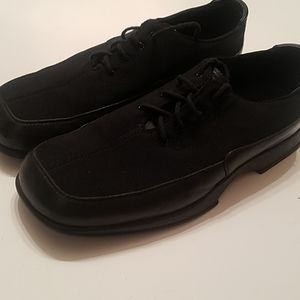 Men dress casaul shoe leather and mesh